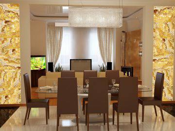 Дизайн столовой зоны в стиле арт-деко