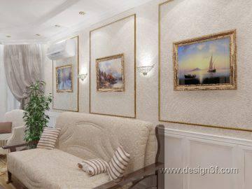 Дизайн гостиной в квартире в классическом стиле