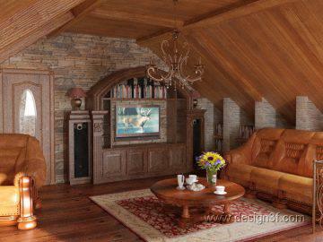 Кантри стиль в интерьере гостиной