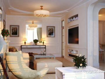 Интерьер гостиной в стиле контемпорари