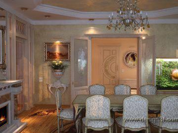 Классический стиль в интерьер гостиной