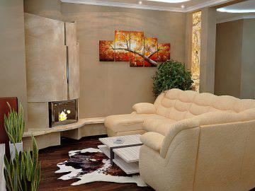 Фото дизайна интерьера гостиной и столовой