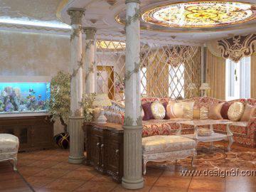 Восточный стиль в интерьере гостиной