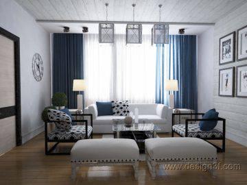 Стиль контемпорари в интерьере гостиной