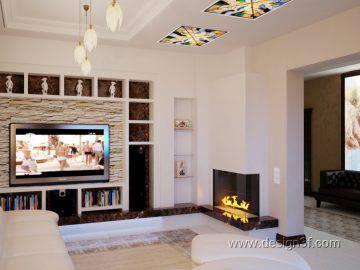 Дизайн гостиной с белой мебелью