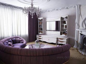 2 варианта гостиной в стиле ар нуво