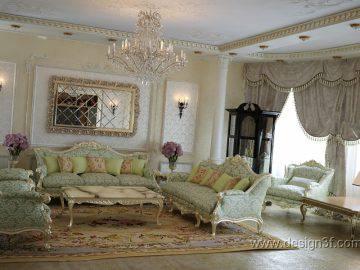Стиль барокко в интерьере гостиной