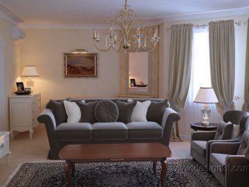 Дизайн гостиной в неоклассическом стиле