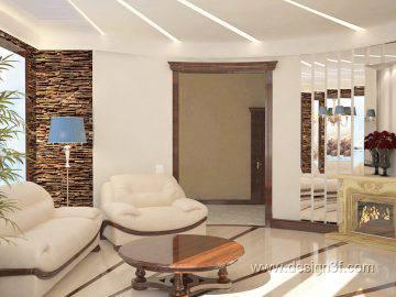 Дизайн интерьера гостиной с лайтбоксом