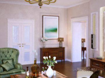 Дизайн гостиной в стиле легкой классики и прованса