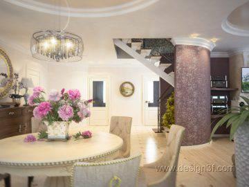 Интерьер гостиной с элементами арт-деко
