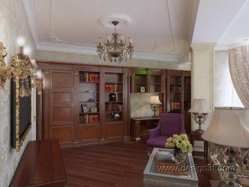 Большой кабинет в классическом стиле