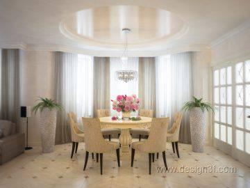 Интерьер столовой в современном доме