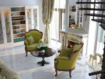 Идея дизайн гостиной мятного цвета