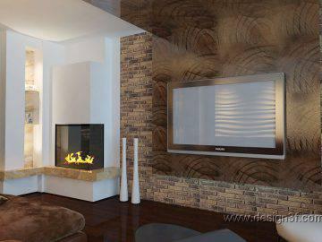 Декоративные 3д панели в интерьере гостиной