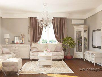 Интерьер гостиной в стиле прованс