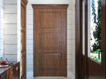 Интерьер прихожей в деревянном доме