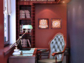 Небольшой кабинет в английском стиле