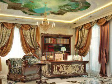 Роскошный интерьер кабинета