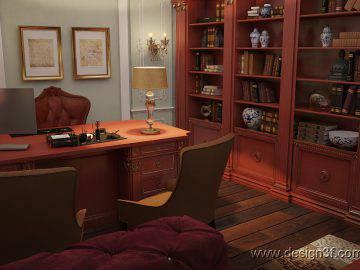 Интерьер кабинета, классика