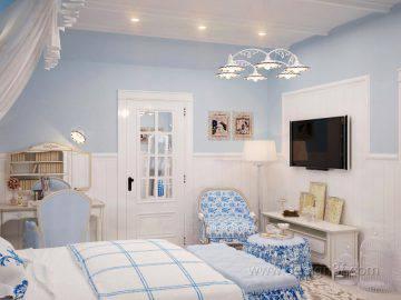 Комната в стиле прованс для девушки