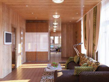 Вагонка в интерьере комнаты отдыха