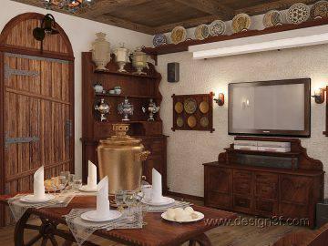 Интерьер небольшого дома классика