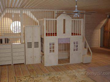 Игровая комната на мансардном этаже