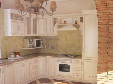 Дизайн белой кухни в стиле современной классики