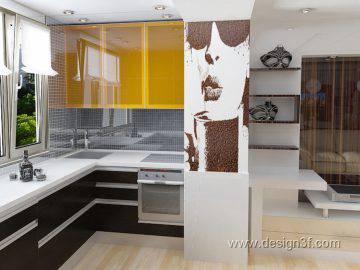 Маленькая кухня на лоджии
