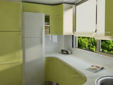 Кухня на лоджии в современном стиле