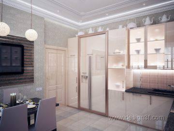 Светлая кухня в доме