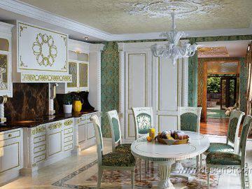 Роскошная кухня в доме