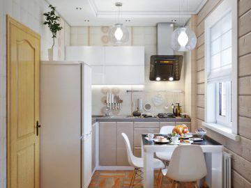 Два варианта маленькой кухни