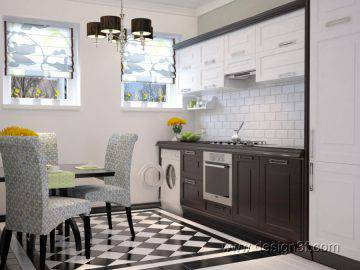 Маленькая кухня в классическом стиле