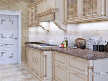 Красивая классическая кухня в квартире