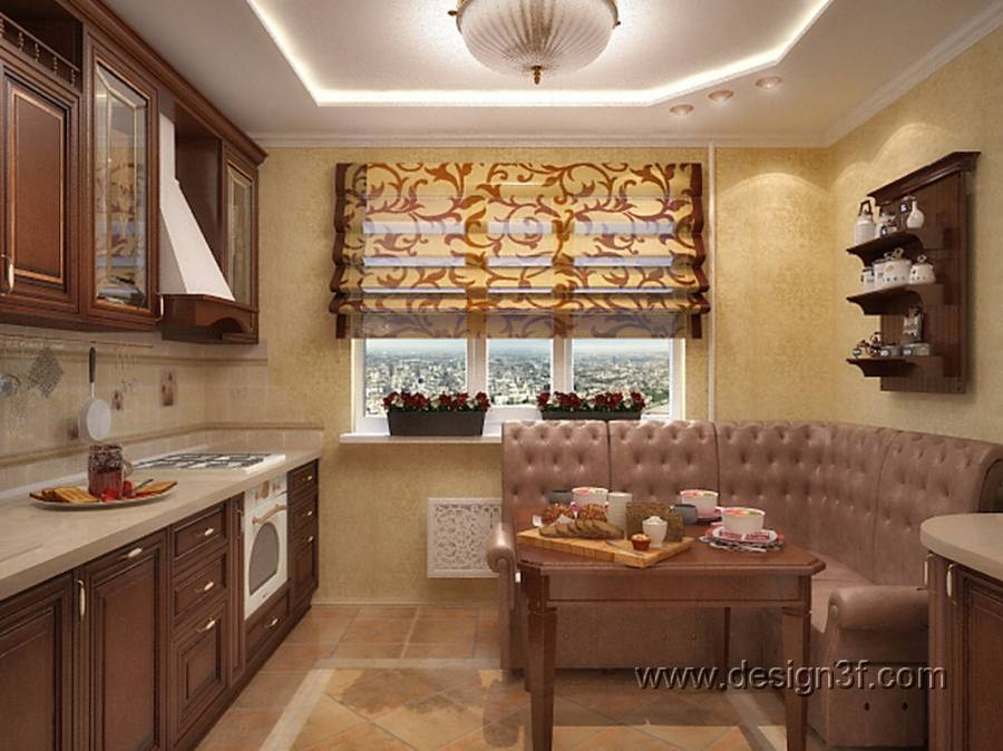 Интерьеры кухни с уголками