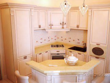 Классическая кухня в пастельных тонах