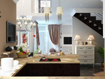 Современная кухня в доме