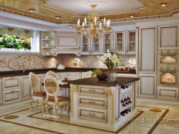 Светлая роскошная кухня