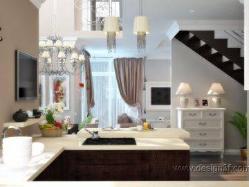 Классическая кухня в доме