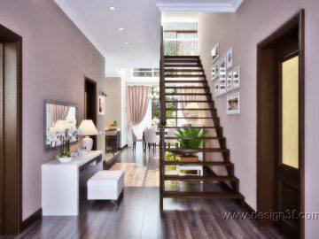 Дизайн классической прихожей в доме