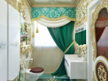 Восточный стиль в интерьере ванной комнаты