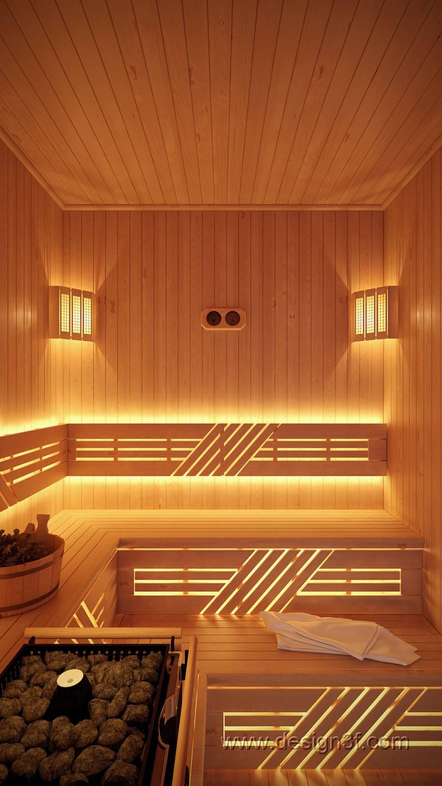 Дизайн комнат отдыха для саун