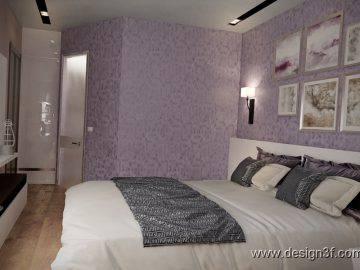 Фиолетовый цвет в оформлении спальни