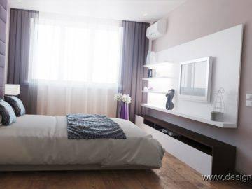 Мягкая стеновая панель в интерьере спальни