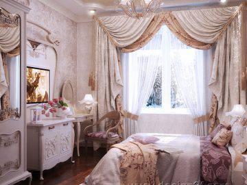 Интерьер спальни в стиле арт-нуво