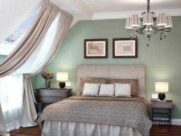 Два варианта цветового оформления спальни