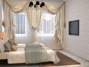 Спальня для гостей в классическом стиле