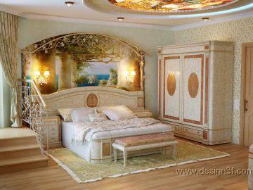 Дизайн интерьер спальни в светлых тонах